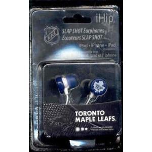 海外セレクション ヘッドフォンToronto Maple Leafs  Ihip Slap Shot Ear Phones|pandastore
