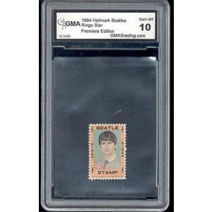 海外セレクション 音楽1964 The Beatles リングo Starr Hallmark rookie stamp gem ミント 10|pandastore