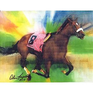 海外セレクション 版画Barbaro Great Race Horse キャンバス 8 5 x11