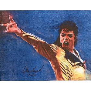 海外セレクション 版画Micahel Jackson King of Pop キャンバス 8 5 x11