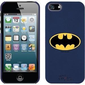 アップル アイフォン ケース カバー スキン スマホ 携帯 Batman クラシック シンボル ロゴ ブルー DC Comics ライセンス iPhone 5 Hardshell ケース|pandastore