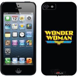 DCコミックス アメリカ ケース カバー スキン スマホ 携帯 オフィシャル ライセンス Wonder Woman ロゴ iPhone 5 ブラック Thinshield Snap-On ケース|pandastore
