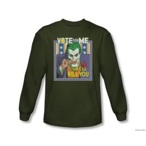スゥエット パーカー トレーナーディーシーコミックBatman ダーク Detective 1 Vote For The Joker ライセンス 長袖 シャツ S-2XL|pandastore