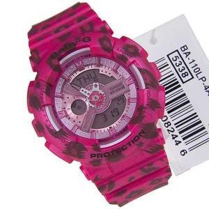 腕時計 カシオ Casio ベビー-G ピンク レオパード 腕時計 BA-110LP-4A BA110LP|pandastore