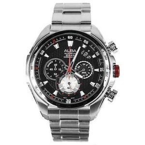 腕時計 アルバ ALBA AU2059X1 AU2059X メンズ 100 Meters クロノグラフ 腕時計 Made by Seiko|pandastore
