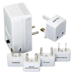 旅行用アダプター 変換器 ゴートラベル Go Travel Worldwide Adapter Kit + Converter White 382|pandastore