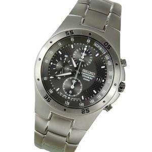 腕時計 セイコー New Seiko メンズ クロノグラフ チタニウム 7T92 腕時計 No Box SND419 SND419P1|pandastore