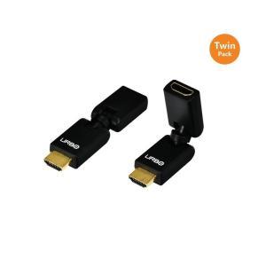 ビデオケーブル インターコネクト 海外セレクション Urbo Multi-Pivot HDMI Connector - Twin Pack|pandastore