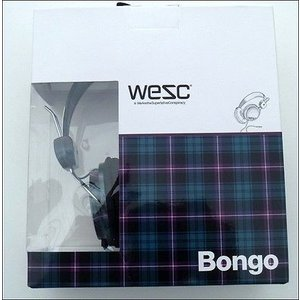ヘッドフォン ウィーエスシー WeSC Bongo Headphones-Black Checked Plaid-MP2 iPod-NEW|pandastore