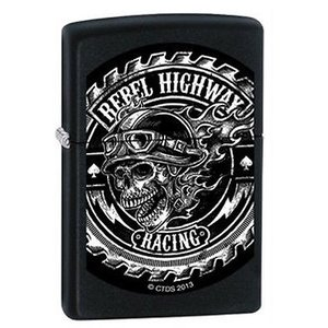 ライター ジッポー Zippo 12746 rebel motorcycle skull saw Lighter|pandastore