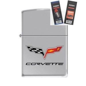 ライター ジッポー Zippo 2028 Chevy Corvette Lighter with F...