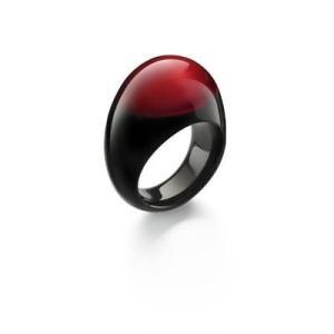 クリスタル バカラ Baccarat Crystal Jewellery Ring Red TANGO 53 Size 6.5 Black French Art Glass Box|pandastore