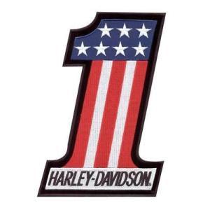パッチ ハーレーダビッドソン Harley-Davidson #1 Red, White & Blue Small Patch EM227842|pandastore