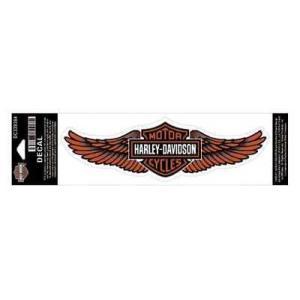 パッチ ハーレーダビッドソン Harley-Davidson Straight Wing Decal Orange LG Size Sticker DC339384|pandastore