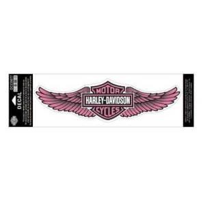 パッチ ハーレーダビッドソン Harley-Davidson Straight Wing Decal Pink 3XL Size Sticker DC339077|pandastore