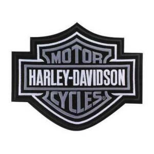 パッチ ハーレーダビッドソン Harley-Davidson Silver Bar & Shield Patch 2XL 9 1/4'' x 7 11/16'' EMB302546|pandastore