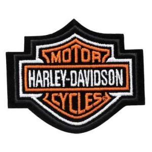 パッチ ハーレーダビッドソン Harley-Davidson Orange Bar & Shield Patch XS 3'' x 2 1/2'' EMB302381|pandastore