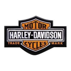 パッチ ハーレーダビッドソン Harley-Davidson Long bar & Shield Medium Patch, 7-1/4'' W x 4-3/8'' H EMB312383|pandastore