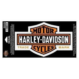 パッチ ハーレーダビッドソン Harley-Davidson Long Bar & Shield Decal Orange, Large Size D3123|pandastore