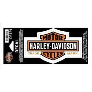 パッチ ハーレーダビッドソン Harley-Davidson Long Bar & Shield Decal Orange, Small Size Sticker D3121|pandastore