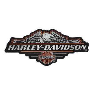 パッチ ハーレーダビッドソン Harley-Davidson Cropped Eagle B&S Embroidered Emblem, LG 8 x 3.5 inch EM184644|pandastore