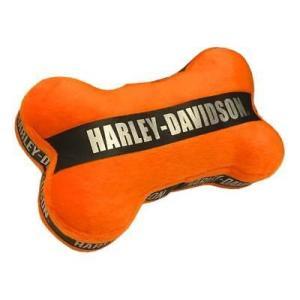 おもちゃ ハーレーダビッドソン Harley-Davidson Plush Bone Toy w/ Real Engine Sound - 7 in, Orange H8300HK02DOG|pandastore