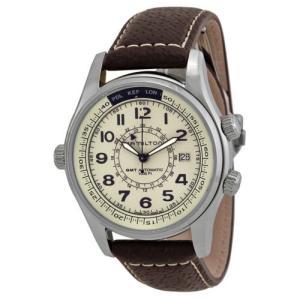 腕時計 ハミルトン Hamilton カーキ ネイビー オートマチック GMT ストラップ メンズ ...