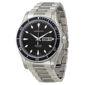 腕時計 ハミルトン Hamilton Seaview ブラック ダイヤル ステンレス スチール メン...