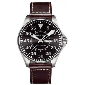 ハミルトン 腕時計 Hamilton H64715535 カーキ Pilot ブラウン ダイヤル &...