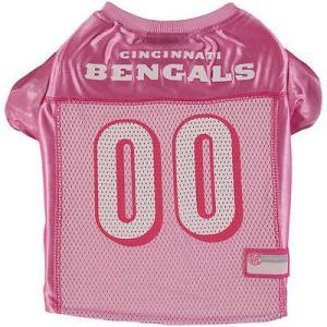 ペッツファースト 犬 ウェア シューズ Cincinnati Bengals ピンク mesh ドッグ Jersey|pandastore