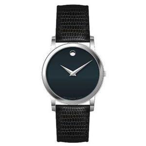 腕時計 モバード Movado メンズ 2100007 'Museum' ブラック レザー 腕時計