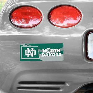 """写真 North Dakota 4"""" x 10"""" Bold フォト バンパー ステッカー"""