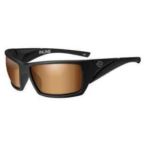 サングラス ハーレーダビッドソン Harley-Davidson Mens Inline Bar & Shield Sunglasses, Bronze Flash Lenses HAINL06|pandastore