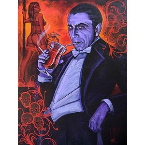 アート  海外セレクション Smarrmy Extraordinaire by Mike Bell Dracula Vampire Bela Lugosi Canvas Giclee|pandastore