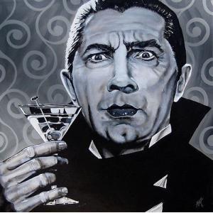アート  海外セレクション I Never Drink Wine by Mike Bell Dracula Vampire Bela Lugosi Canvas Giclee|pandastore
