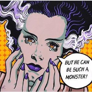 アート  海外セレクション Such A Monster by Mike Bell Bride of Frankenstein Canvas Giclee|pandastore