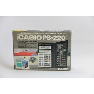 カシオ ビンテージ 計算機  Casio PB-220 Casio Data Bank Calculator Pocket Personal Computer ビンテージ RARE pandastore