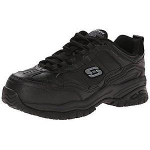 ユニフォーム 業務用 スケッチャーズ Skechers for Work 77053 メンズ Soft Stride-Chatham Lace-Up. Black