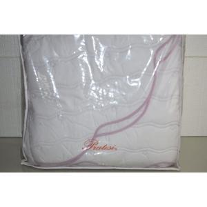 キルト ベッドカバー プラテシ PRATESI Wave White Lilac Embroidery Quilt Bedspread Coverlet KING Scalloped