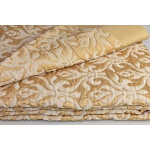 キルト ベッドカバー フレッテ FRETTE LUXURY PLATINUM Quilt SILK Coverlet Golden Bedcover Gold KING
