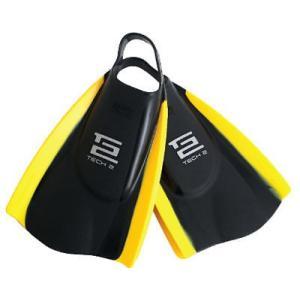 サーフフィンアクセサリー Hydro Tech 2 Swim フィン (ブラック/イエロー, ML) メンズ ユニセックス サーフィン サーフ ウォータースポーツ N