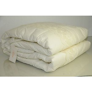 キルト ベッドカバー プラテシ PRATESI Queen Cut Work Lace IVORY Scalloped Quilt Bedspread Coverlet|pandastore
