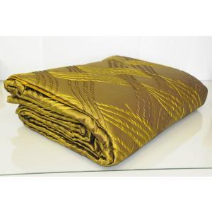 キルト ベッドカバー フレッテ FRETTE Luxury Trapuntino SILK King Quilt BLANKET Gold Green Coverlet