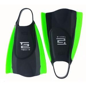 サーフフィンアクセサリー Hydro Tech 2 Swim フィン (ブラック/グリーン, M) メンズ ユニセックス サーフィン サーフ ウォータースポーツ