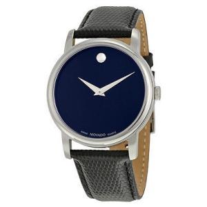 モバード 腕時計 Movado クラシック Museum ダーク ネイビー ダイヤル メンズ 腕時計...