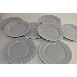 プレート ウィリアムズソノマ Williams Sonoma Pillivuyt Eclectique 8 Salad Plates Fog Grey Porcelaine|pandastore