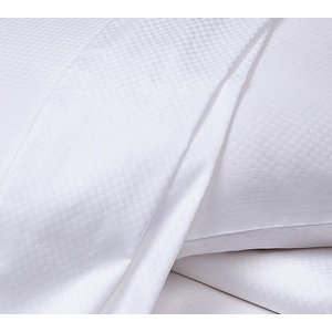 布団カバー セット フレッテ Frette SABRINA 3 PC SET Duvet Cover Shams White Diamond Jacquard Weave QUEEN|pandastore