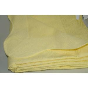 キルト ベッドカバー プラテシ PRATESI Yellow Swirl Cuore PIQUE Scalloped Blanket Bedspread King Queen