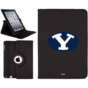 カヴァルー ケース タブレット パソコン カバー カバー キーボードフォリオ BYU Cougars ブラック iPad Air Swivel|pandastore