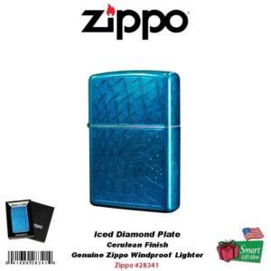 ジッポライター ジッポ Zippo Iced ダイヤモンド プレート ライターCerulean Fi...